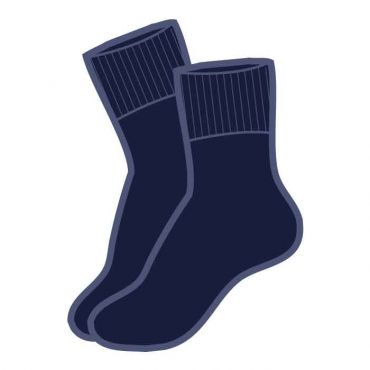 NAVY SOCKS 3 PACKS Navy+B136