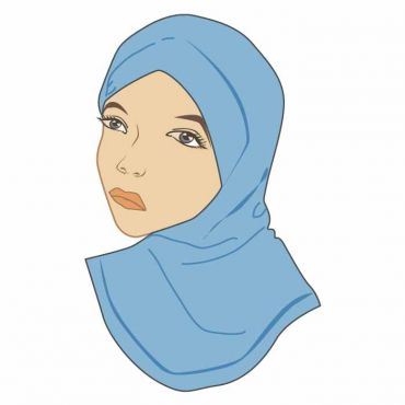 WS HEAD SCARVES LIGHT BLUERLight Blue