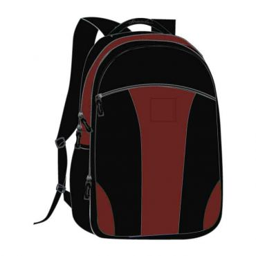 COM UNISEX SCHOOL BAG 16 INCH BURGANDY