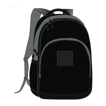 COM UNISEX SCHOOL BAG 16 INCH BLACK