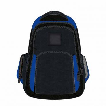 COM UNISEX SCHOOL BAG 16 INCH BLUE