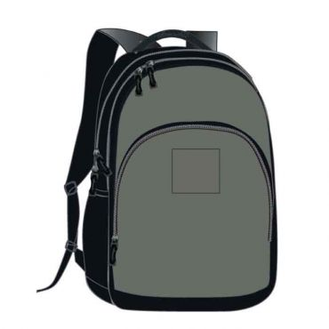 COM UNISEX SCHOOL BAG 16 INCH GREY