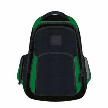 COM UNISEX SCHOOL BAG 18 INCH GREEN