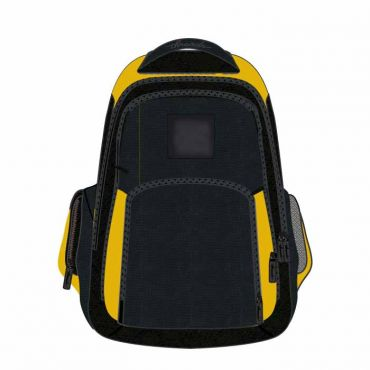 SCHOOL BAG 16 INCH YELLOW