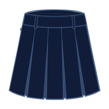 GMA GIRLS NAVY KNEE SKIRT