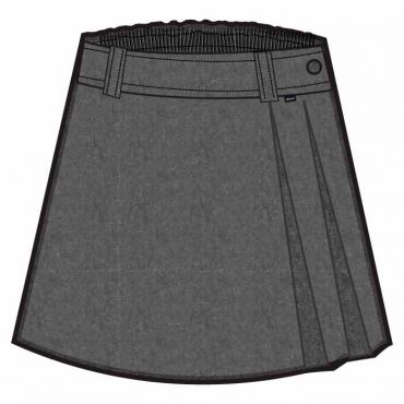CAM KNEE SKIRT GREY