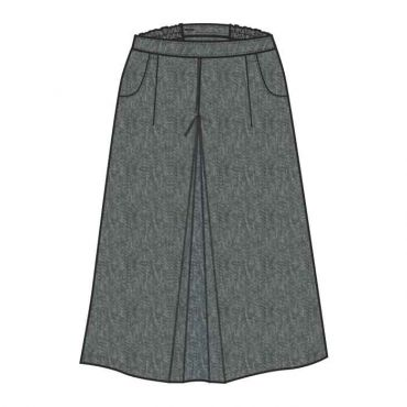 GIS GIRLS LONG SKIRT GR 1-10 GREY
