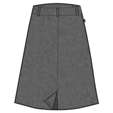 GNS GIRLS LONG SKIRT GREY