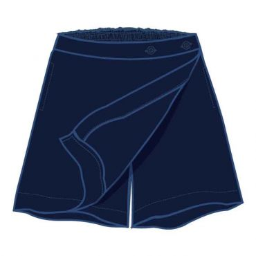 COM PM NAVY PINSTRIPED SKORT