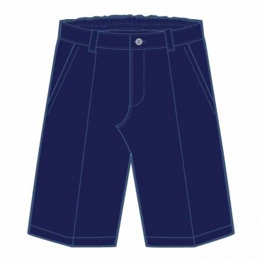 COM PM BOYS NAVY PINSTRIPED SHORTS