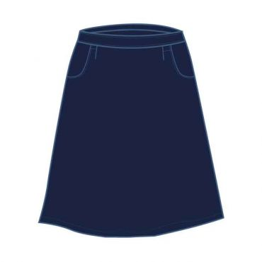 DAA/GAA NAVY PINSTRIPED KNEE SKIRT