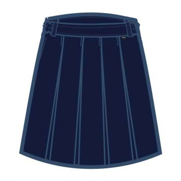 COM PM NAVY KNEE SKIRT