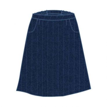 MID AM GIRLS LONG SKIRT PINSTRIPE NAVY