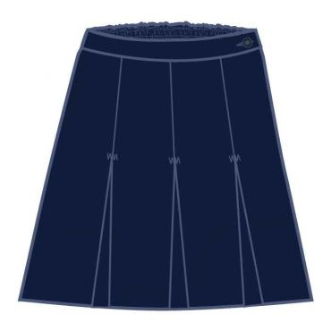 ALP PLEATED KNEE SKIRT GR 1-6 NAVY