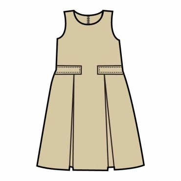 OOE GIRLS PINAFORE STONE