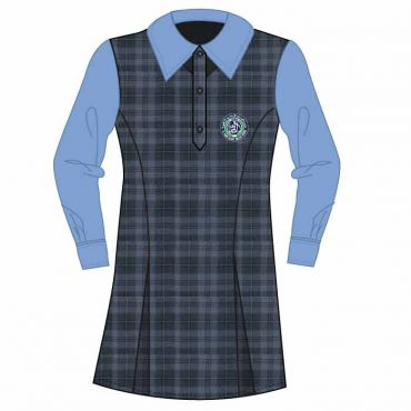 SDQ 1-6 GIRLS BUTTON UP BLUE GIRLS DRESS