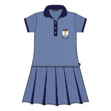 GRM GIRLS DRESS GR KG1- GR 2 BLUE