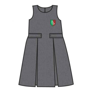 GNS GIRLS KG PINAFORE GREY