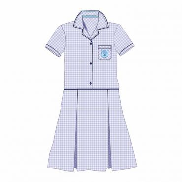 FPS SUMMER DRESS BLUE CHECKED