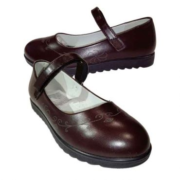 GIRLS BROWN VELCRO MACY