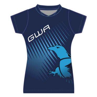 GWA GIRLS SBLM PE POLO NAVY/BLUE