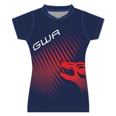GWA GIRLS SBLM PE POLO NAVY/RED