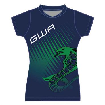 GWA GIRLS SBLM PE POLO NAVY/GREEN