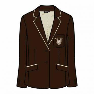OOE GIRLS BLAZER BROWN