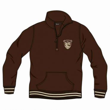 OOE UX 3/4 ZIP JACKETS BROWN