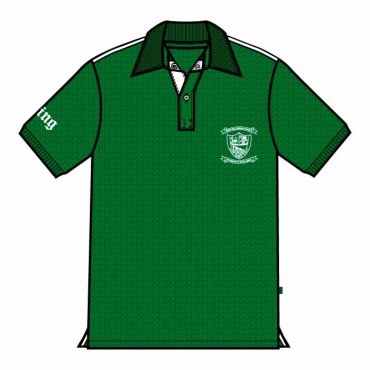 TMS UNISEX PE POLO GREEN WITH PIPINNG