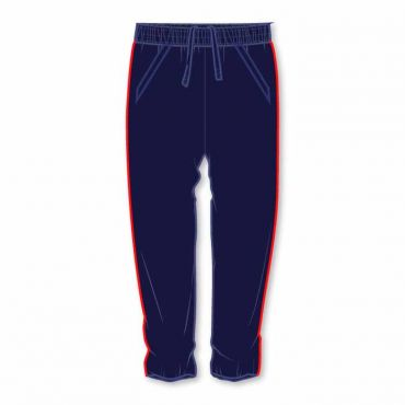 OOE UNISEX TRACK PANTS WITH RED PIPING