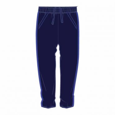 OOE UNISEX TRACK PANTS WITH BLUE PIPING
