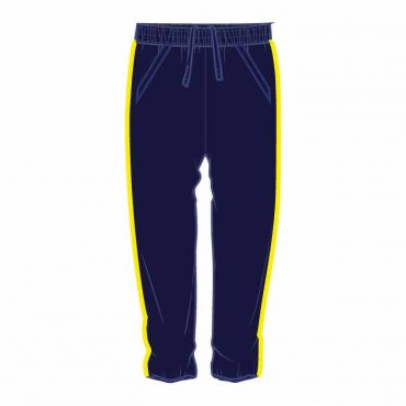 OOE UNISEX TRACK PANTS WITH YELLOW PIPING