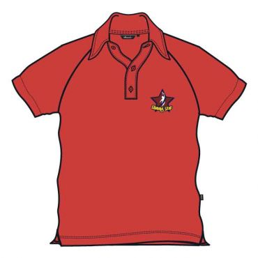 SST UNISEX PE POLO RED