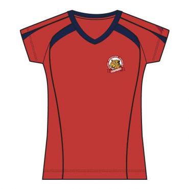 DAA GIRLS RED PE T-SHIRT GR 6-12