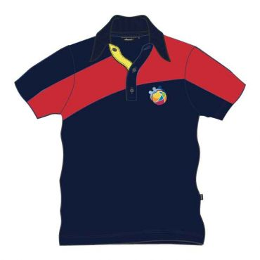GIS UNISEX PE POLO NAVY/RED