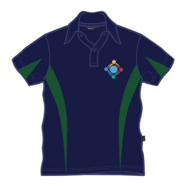 GWA UNISEX PE POLO NAVY/GREEN