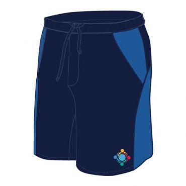 GWA UNISEX PE SHORTS NAVY/BLUE