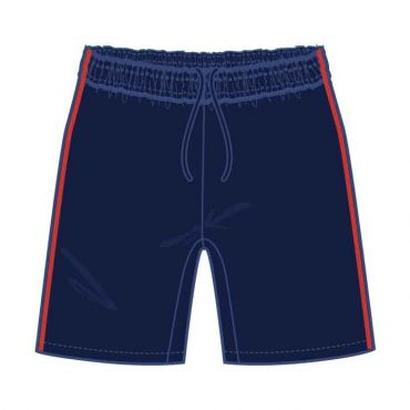 GMA PE SHORTS NAVY/ RED
