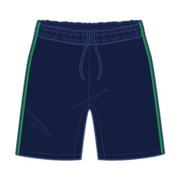 GMA PE SHORTS NAVY/ GREEN