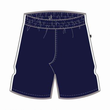 OOE UX NFAB KG SHORTS NAVY W/WHITE PIPING