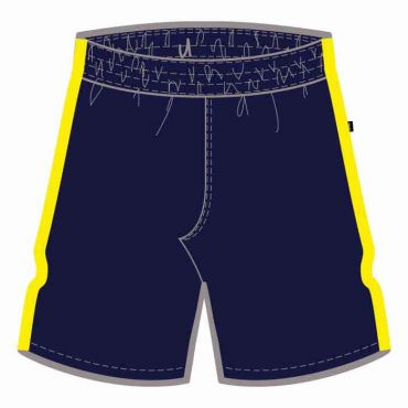 COM AS UX PE SHORTS NAVY/ YELLOW