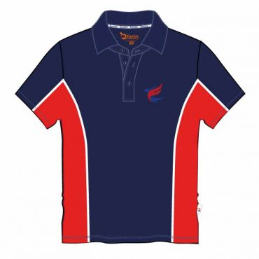 AKNS UX SS PE POLO GR 6- 11 NAVY/RED