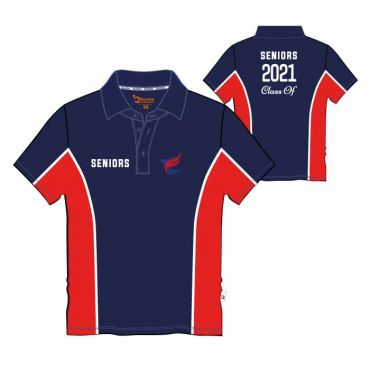 AKNS UX SS PE POLO GR 12 NAVY/RED