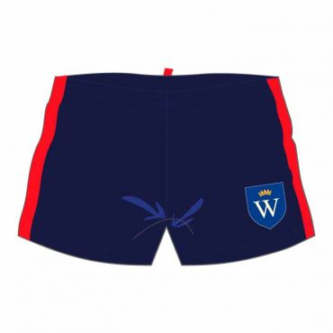 WEL SWIM SHORTS NAVY/RED
