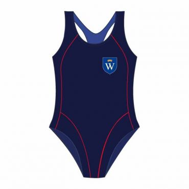 WEL SWIMSUIT NAVY/RED