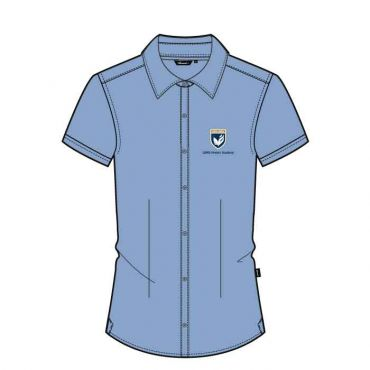 GMA GIRLS L.BLUE SS SHIRT WO/P