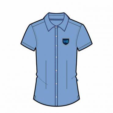 TWS SS BLOUSE GR 1-6 OXF BLUE