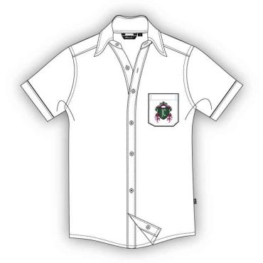 JCD BOYS SS SHIRT GR 12-13 WHITE