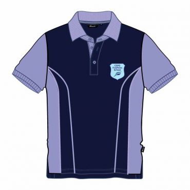 FPS UNISEX POLO GR1-2 NAVY/LILAC